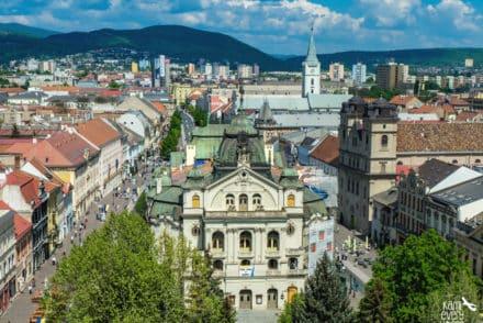 koszyce widok z wieży kościoła św. elżbiety