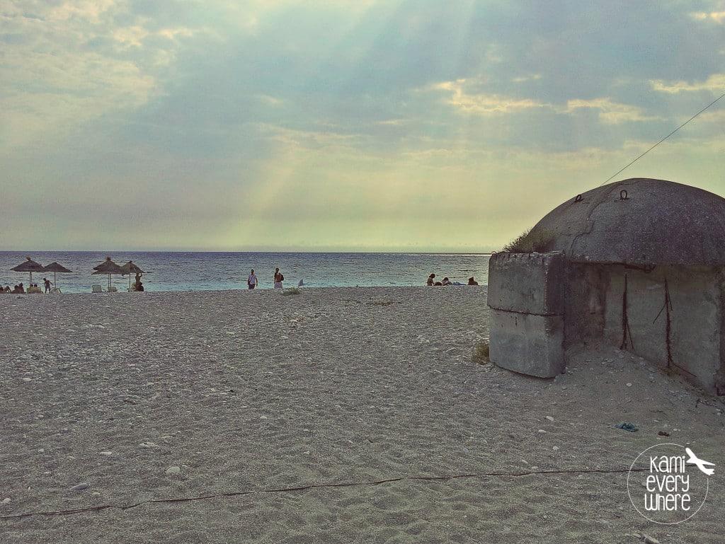bunker beach Albania